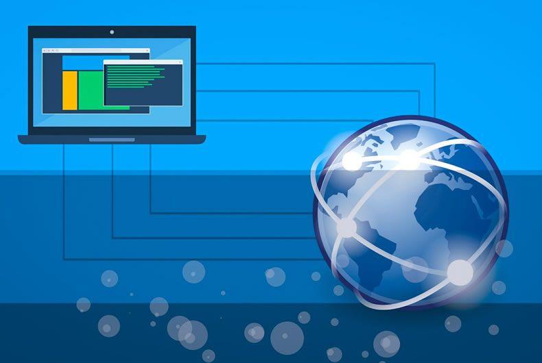 il dominio e l'hosting funzionano insieme per visualizzare un sito internet