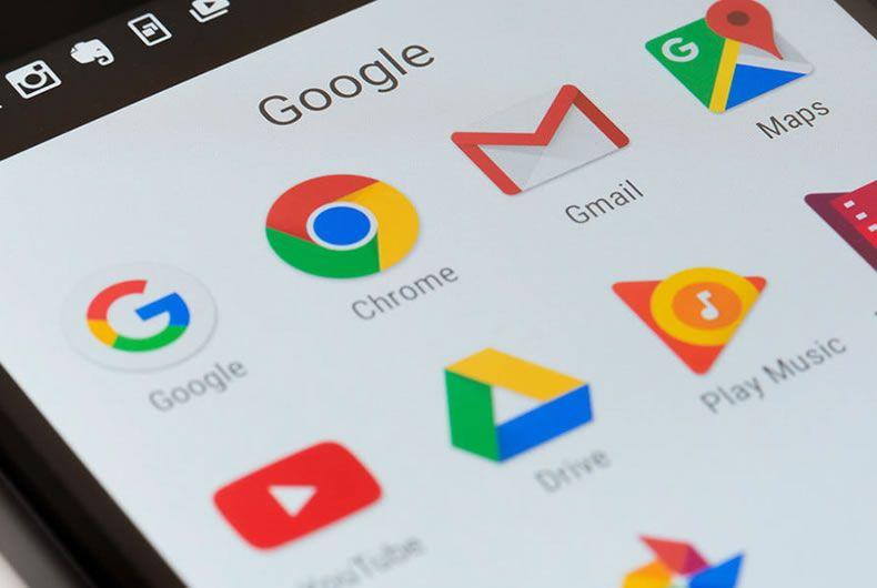 lista di alcune app di google